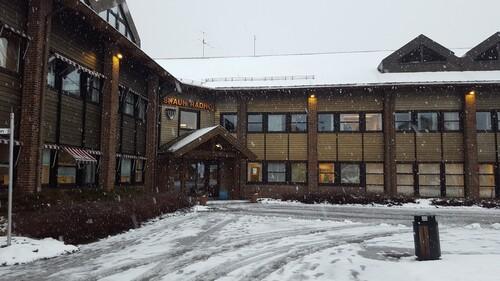 Rådhuset i snø