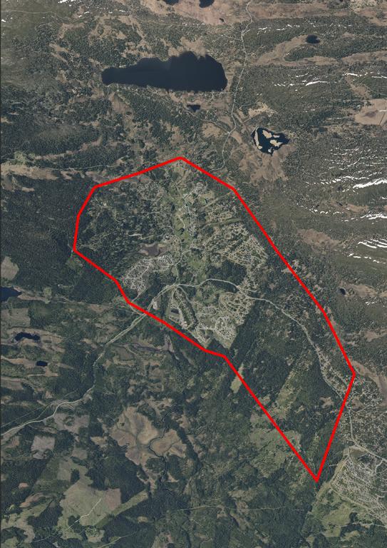 Planområde områderegulering Nordseter