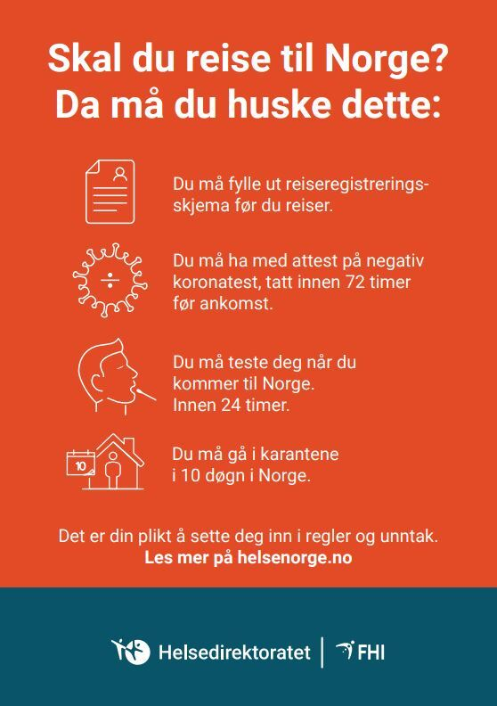 Skal du reise til Noreg