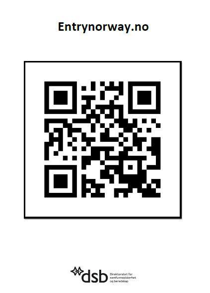 QR kode reiseregistrering