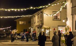 Julegateopning i Folkestadbyen