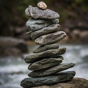 Balansetårn av stein.