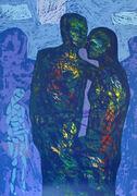 Par stående blått