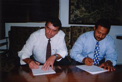 Signering venskapsavtale
