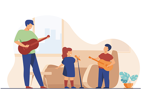 46980964-kids-and-dad-playing-guitar-and-singing-at-home