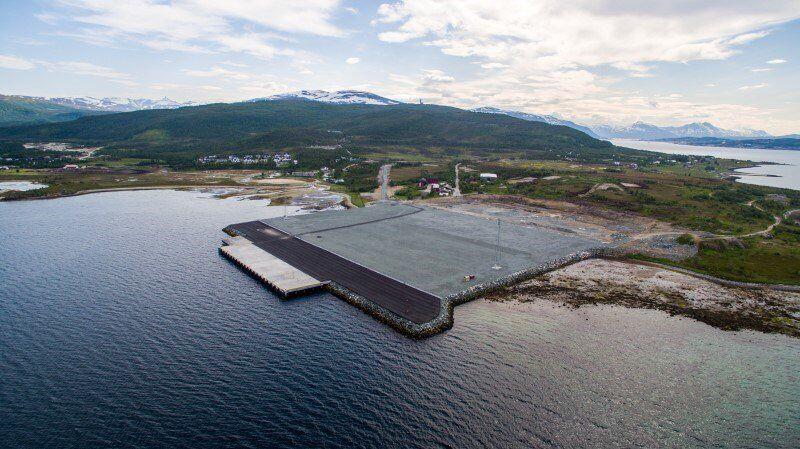 Grøtsund havn. Foto: Tromsø Havn / Kjetil Robertsen