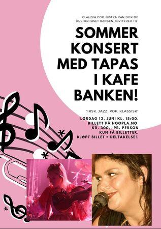 Plakat kafe banken juni