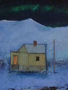 Blå nattsang maleri