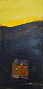Gul natt maleri 30 x 60
