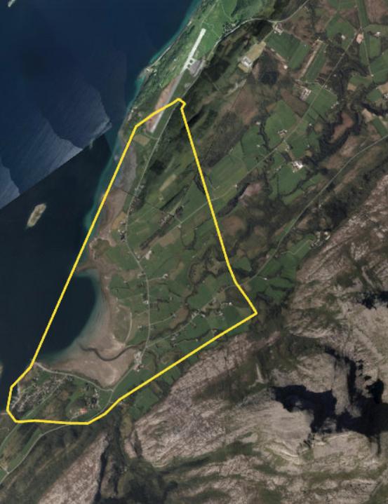 Bildet viser området hvor gravearbeidet nå er igangsatt