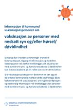 Info til vaksinasjonspersonell