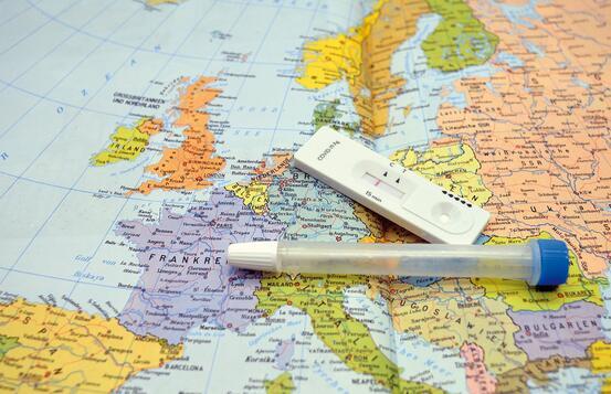 Koronatest på kart