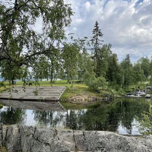Badedammen - en fin badeplass langs Mesnaelva