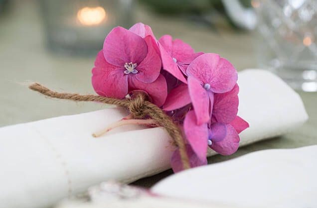 blomster og hamp til servietten