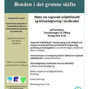 Invitasjon til klimamøte 28.9.