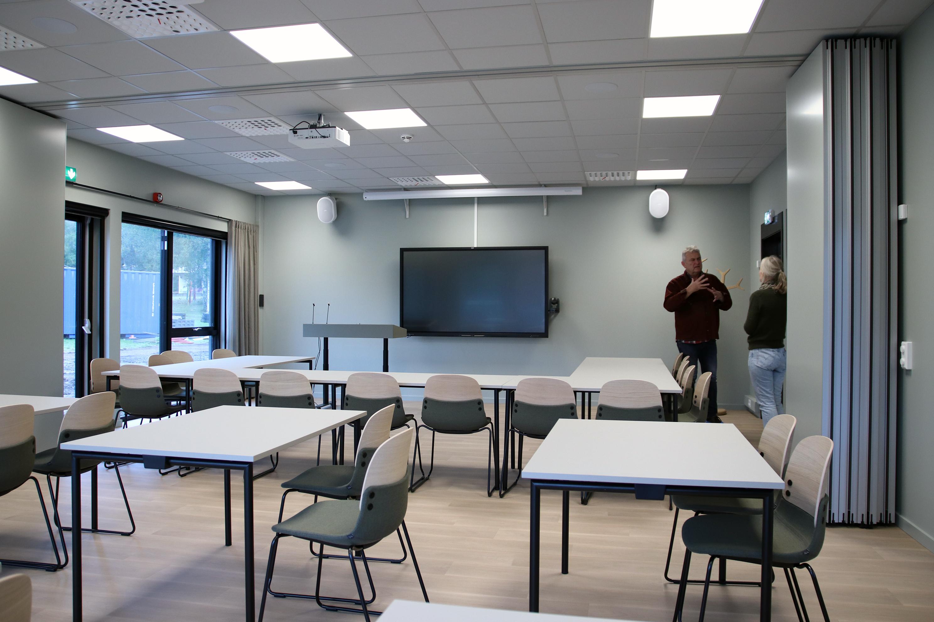Klasserom i nytt kurssenter.